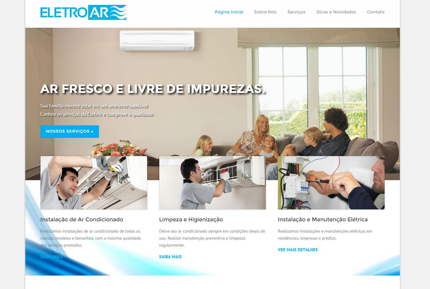 Cliente de criação de sites em Piracicaba - Eletroar